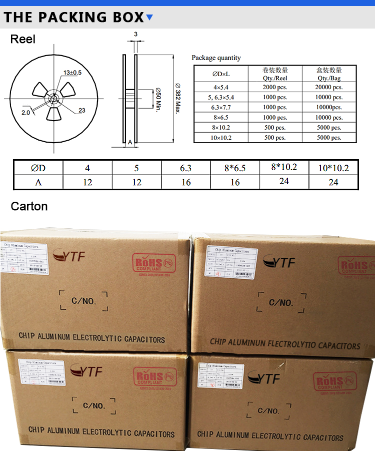 electrolytic capacitors 6.3V 47UF