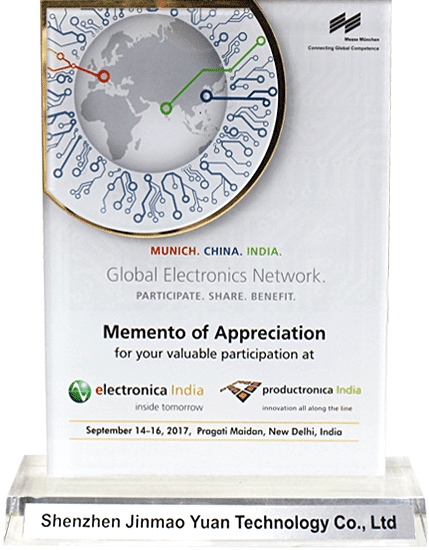 Memento of Appreciation in September 14-16,2017