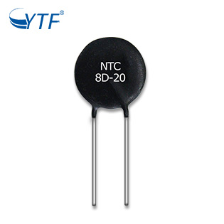Hot Sale Black Power NTC Thermistor 8D-20 For Incrush Current Limited Resistors