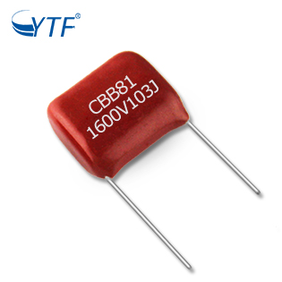 High quality film capacitor CBB22 0.001UF/1.6KV polycarbonate film capacitors 103j1600V