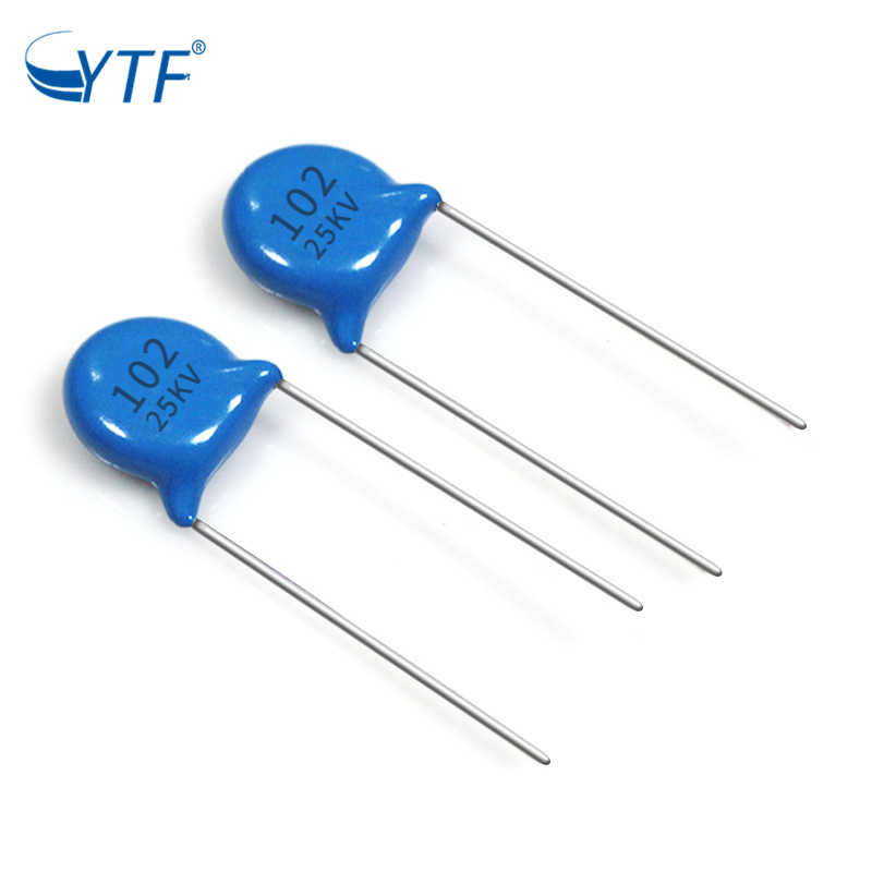 New Radial Multilayer 25kv 1000pf Ceramic Disc Capacitor