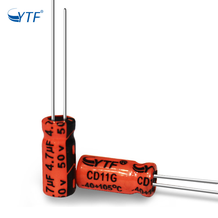 New Design YTF Capacitor Certificate 4.7uf 50v Aluminum Electrolytic Capacitor