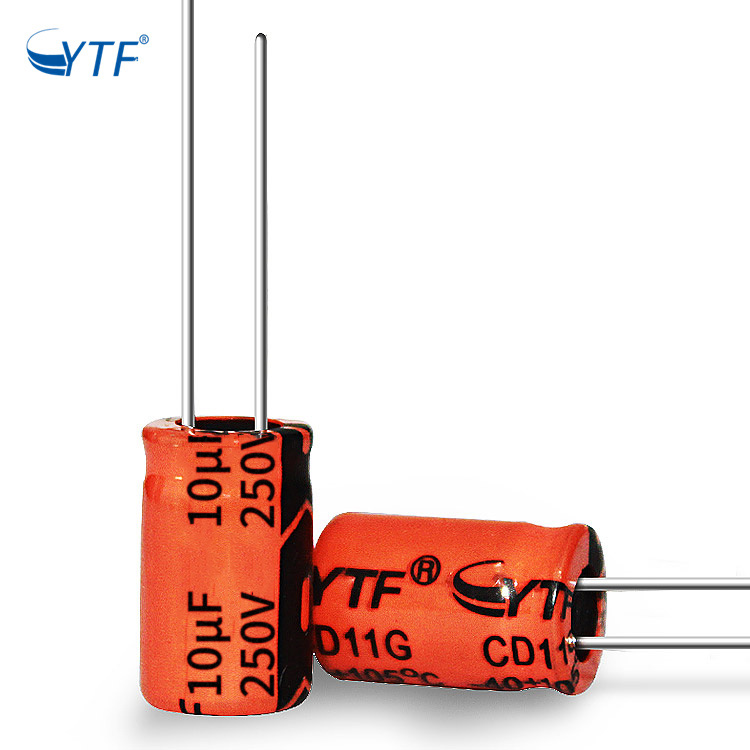 Orange Generator High Voltage Drop 10uf 250v Electrolytic Capacitor Bank