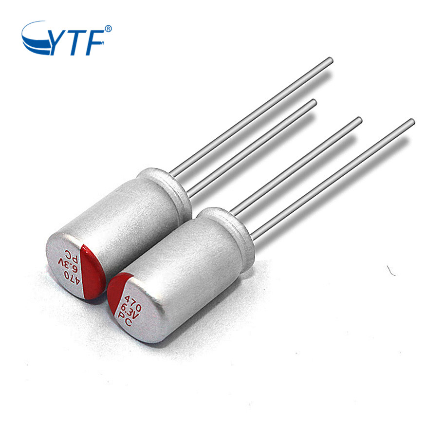 Solid E-cap 6.3V 470UF Dip Price 105 Degree High Quality Aluminum Solid Electrolytic Capacitor