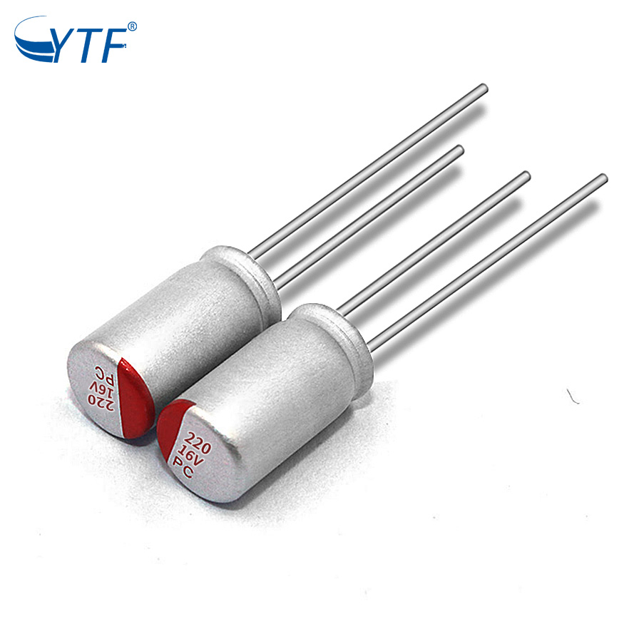 Excellent Temperature Characteristics Solid Electrolytic Capacitor Polarity 16V2200uF  For CPU Power
