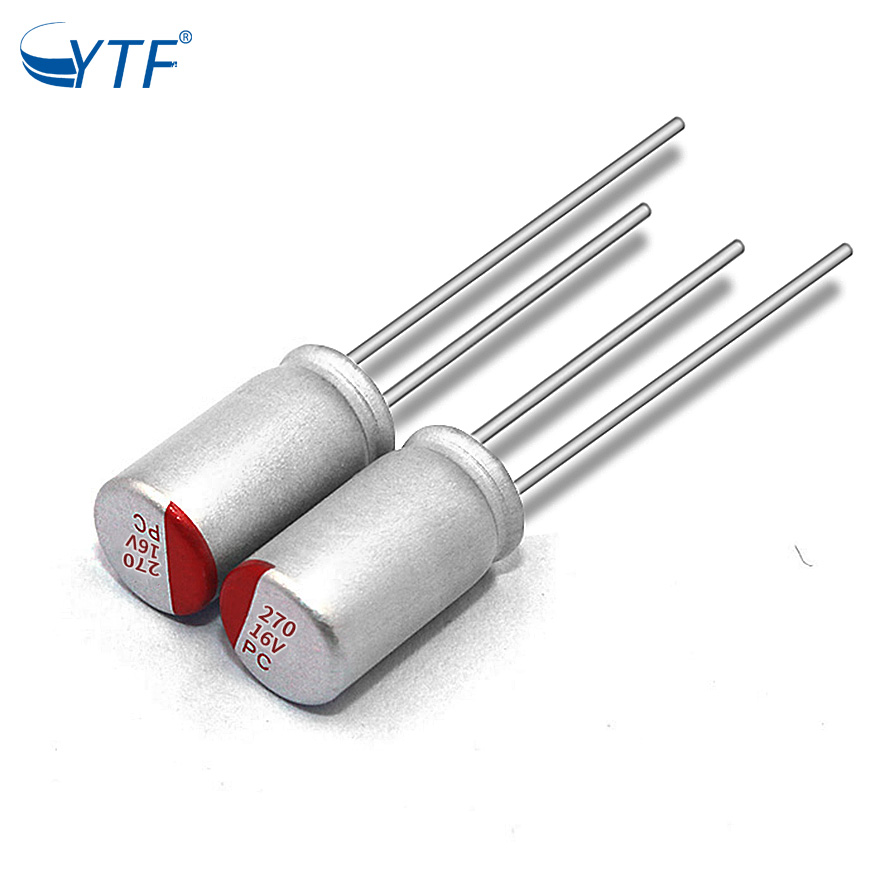 High Reliability DIP Conductive Polymer Aluminum Solid Electrolytic Capacitors 16v270uf