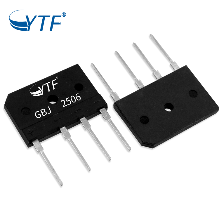 Through Hole Bridge Rectifier GBJ2506 600V 25A Molded Package