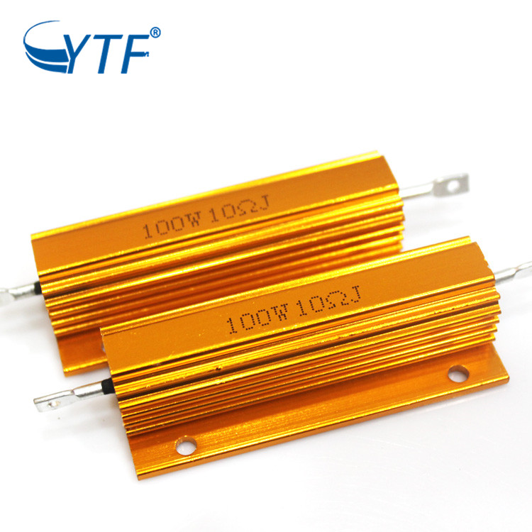100W 10R China Professional Supply Adjustable Wirewound Gold Color Aluminum Resistor