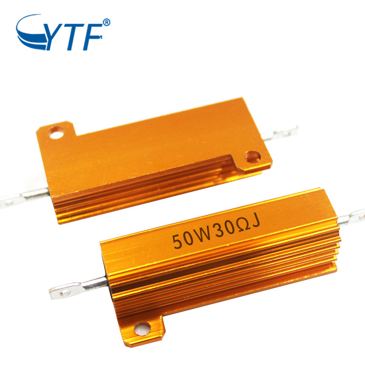 Aluminum Gold Case Resistor 50w 30r Housed Wirewound Power Resister