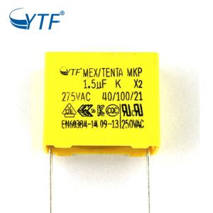 China Manufactured Professional Mkp 155K 1.5uf 275vac P27.5mm X2 Capacitor
