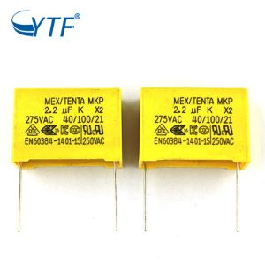 2018 New High Quality X2 Mkp 2.2uf 275vac 27.5mm Capacitor