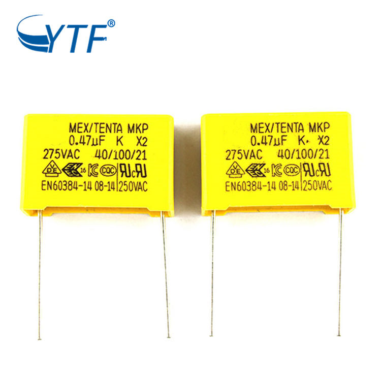 Hot Selling Promotional P15 Machine Grade 474k Mkp X2 Capacitor 0.47uf 275v
