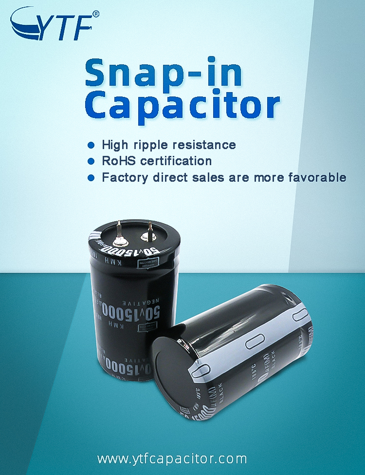 Beef foot type aluminum electrolytic capacitor(snap-in capacitor)