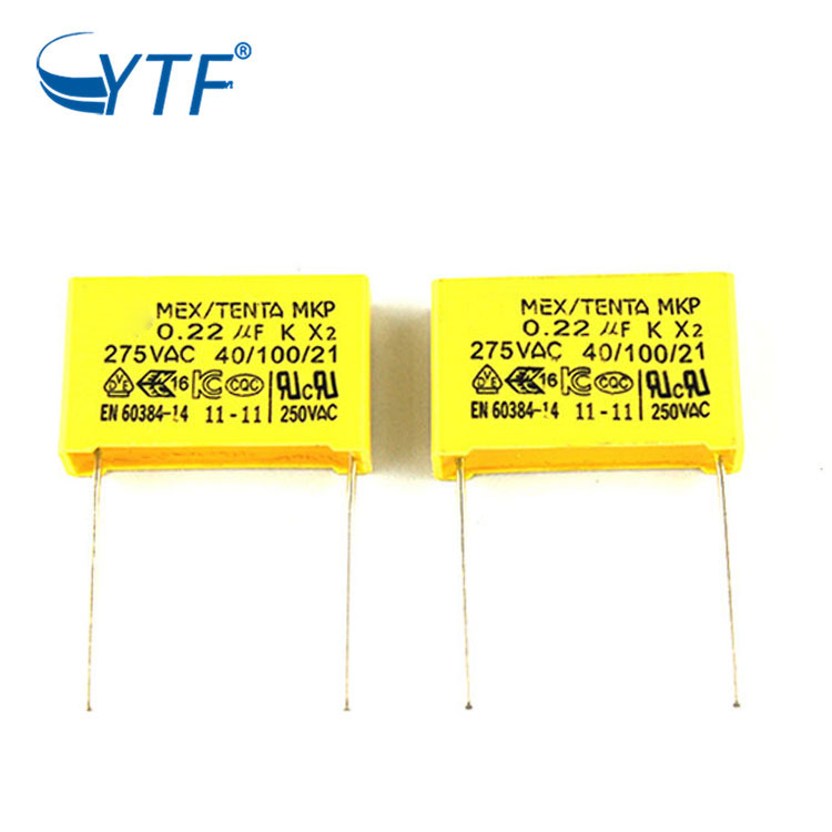 Yellow Box Type Polypropylene Film 224k X2 Mkp 275v 0.22uf Safety Capacitor