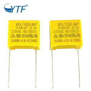 Made China AC Line Filter Manufacturer 275v X2 Mkp Capacitor 0.68uf