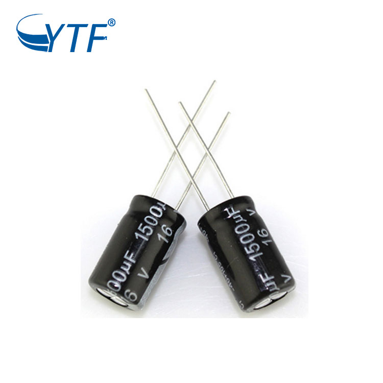 Factory price electrolytic capacitor 16v 1500uf from China supplier