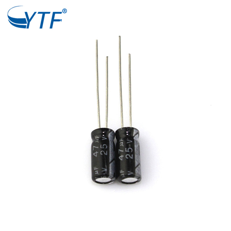 YTF series capacitor 25v 47uf electrolytic capacitor for communication device