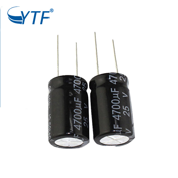YTF High voltage capacitor 25v 4700uf electrolytic capacitor with ROHS