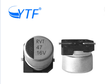 High Performance SMD Aluminum Electrolytic Capacitors with Rated Voltage