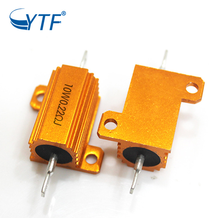 Housed Braking Wirewound Power resistor 10W 0.22R Rx24 Gold Aluminum Case Resistor