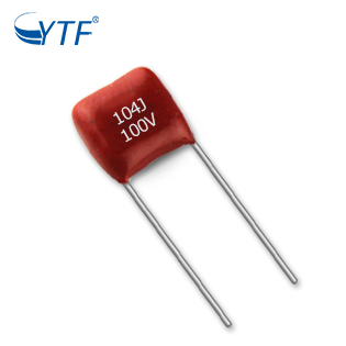 Environmental 5MM 104J 100V Polyester Film Capacitor For Led Lighting