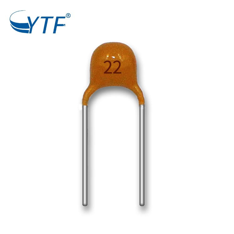 50V 22P Capacitor Chip Yellow Multilayer Ceramic Capacitors Component