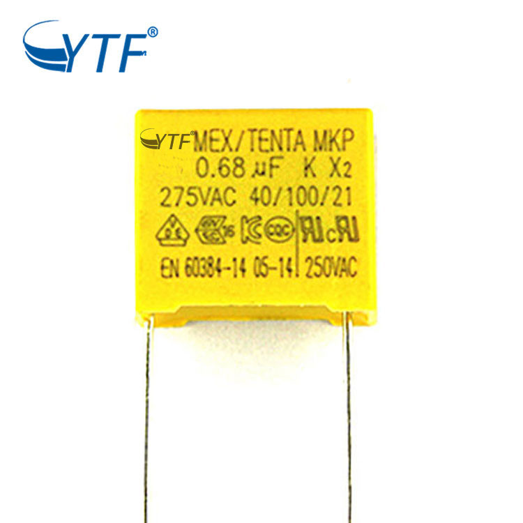 Safety capacitor mkp x2 0.68uf 275vac 684k film capacitor