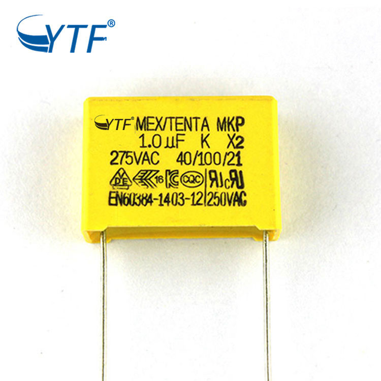China manufacture safety capacitor 105k 275vac mkp  x2 capacitor 1uf 275v