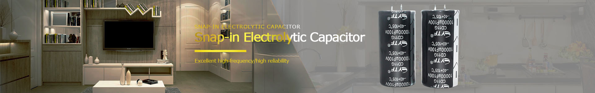 Black High Capacity Snap-in Electrolytic Capacitor