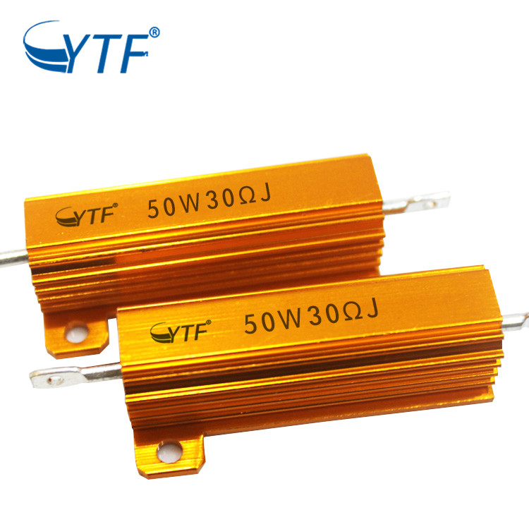 RX24 Gold Aluminum Housed Wirewound Resistor 50W 30R